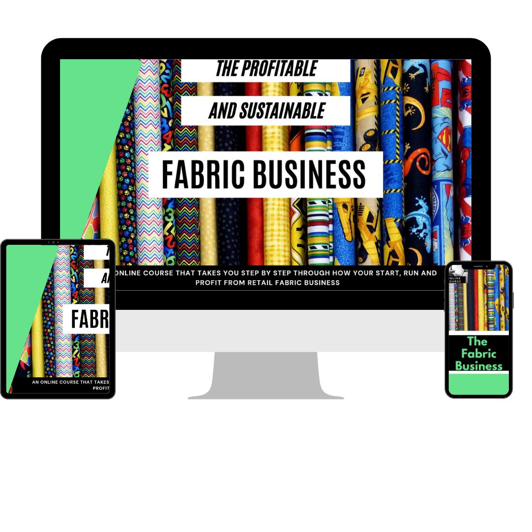 Fabric business online course mockup